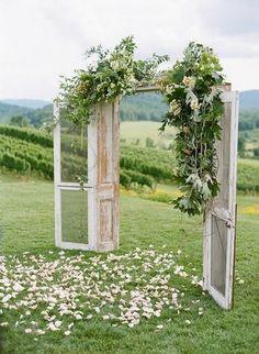outdoor wedding ceremony entrance ideas