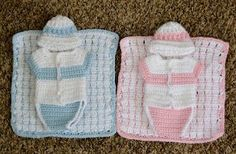 Angel baby diaper shirt, hat & blanket pattern