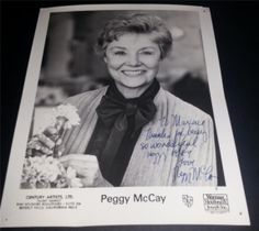 Bustin Loose Second Thoughts Andy Griffith Show Actress Peggy McCay Signed Photo | eBay