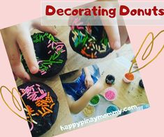 Decorating Donuts as a fun screenfree activity - Happy Pinay Mommy Chocolate Cake Donuts, Child Please, Just Bake, Baked Donuts, Free Activities, Food Safety, Business For Kids, Sprinkles, Parenting