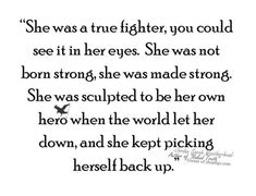 She was definitely made strong... dre
