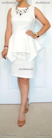 SewPetiteGal: Handkerchief Peplum Dress #DIY + Mini Tutorial