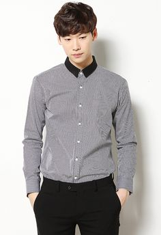 Mini Check Short Collared Shirts