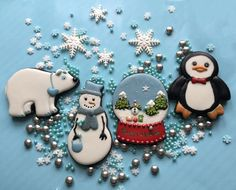 Polar Bear, Penguin, and Snowman Cookies-Perfect Cookies for Winter