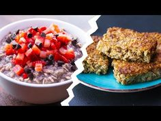 Healthy Food Videos - 7 Healthy Oatmeal Recipes For Weight Loss Peanut Butter Ingredients, Vegan Peanut Butter, Weight Loss Meals, Chocolate Overnight Oats, Easy Blueberry Muffins, Healthy Oatmeal Recipes, Food Charts, Food Categories, Mets