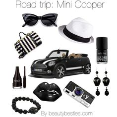 Road trip: Mini Cooper by beautybesties1 on Polyvore