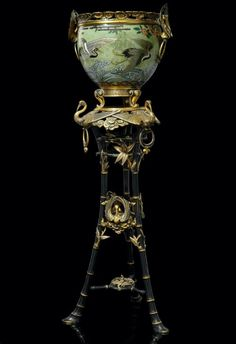 ... patinated jardiniere-on-stand, Christofle et Cie, Emile Reiber, 1874