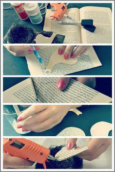DIY Book Page Bird Ornament Tutorial
