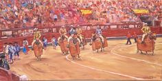 """El paseíllo"" Oilpainting cm) - Artist: Sergio DS (c) 2015 Valencia, Arte Online, Basketball Court, Ds, Art Auction, 19th Century, Walks, Exhibitions, Artists"