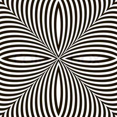 Stock vector of 'Black and White Geometric Vector Shimmering Optical Illusion. Modern Flickering Effect. Op Art Design'