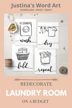 Affordable way to refres your laundry room. Quick to download, easy to print, will fit every frame. Laundry Room Printables, Laundry Room Art, Minimalist Scandinavian, Word Art, Printable Wall Art, Fine Art Paper, Poster Prints, Room Ideas, Cricut