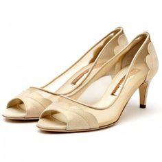 Light pink cross bow strap kitten heels - Mid heel shoes - Shoes ...
