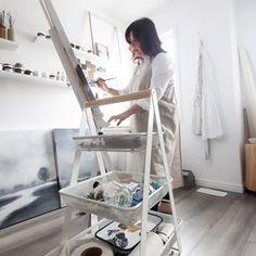 Lisa McLinden (@lisamclindenart) • Instagram photos and videos Ladder Bookcase, Lisa, Shelves, Photo And Video, Videos, Photos, Instagram, Home Decor, Art