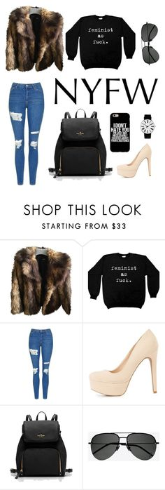 """""""NYFW"""" by marettabeck ❤ liked on Polyvore featuring ASOS, Topshop, Charlotte Russe, Yves Saint Laurent and Rosendahl"""