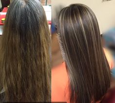 Transformation Brown Hair with soft subtle highlights !!!