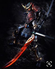 A samurai with his double sword slashing away at his enemies. Arte Ninja, Ninja Art, Ronin Samurai, Samurai Warrior, Fantasy Armor, Dark Fantasy Art, Fantasy Character Design, Character Art, Samourai Tattoo