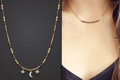 10 Stunning Styles Of Mangalsutra For Stylish Indian Brides - GotoPinter Indian Wedding Jewelry, Bridal Jewelry, Indian Jewelry, Indian Bridal, Bridal Accessories, Modern Mangalsutra Designs, Diamond Mangalsutra, Mangalsutra Simple, Gold Jewellery Design