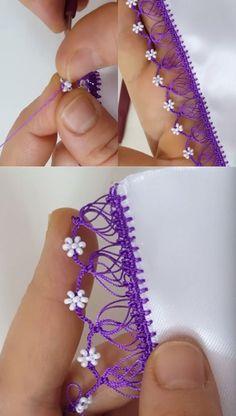 Örümcekli Kum Boncuklu Çiçek Tığ Oyası Modeli Crochet, Earrings, Diy, Beautiful, Jewelry, Crochet Edgings, Craft, Crochet Art, Bullion Embroidery