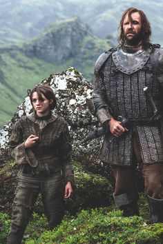 Arya and The Hound, my fav partnership. He better come back!