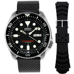 Seiko 5 Sports Automatic, Seiko Automatic, Automatic Watch, Sport Watches, Watches For Men, Authentic Watches, Seiko Diver, Seiko Men, 200m