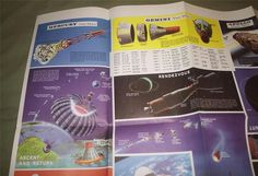 VINTAGE HAMMOND SPACE FLIGHT PROGRAM POSTER 19 x 24 MERCURY GEMINI APOLLO LUNAR | eBay