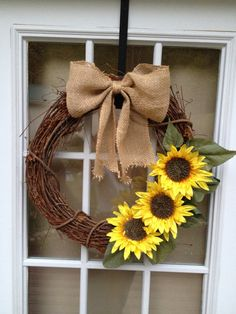 Handmade personalized initial grapevine wreath by CharmingNest