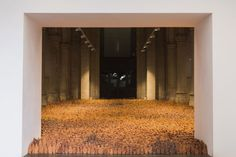 Antony Gormley, Field for the british isles, 2015 Angel Of The North, Antony Gormley, What Is Tumblr, British Isles, Installation Art, Art Blog, Animal Print Rug, Photo Art, Contemporary Art