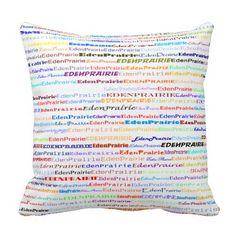 Eden Prairie Text Design II Throw Pillow