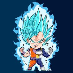 Son Goku and Vegeta - Super Saiyan Blue
