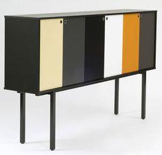 contemporary sideboard with high legs SESSIO by Yrjö Wiherheimo Vivero