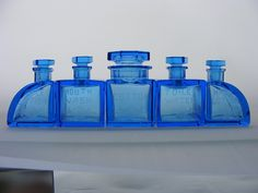 blue art deco glass. interesting. i dont know if i love it or hate it