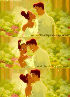 Day Favorite Kiss: Tiana and Naveen (The Princess and the Frog) awwww Disney And More, Disney Love, Disney Magic, Disney Fanatic, Disney Nerd, Disney And Dreamworks, Disney Pixar, Disney Characters, Disney Princesses