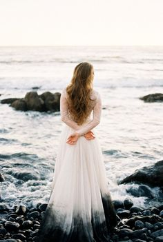 Dip dyed wedding dress by Sweet Caroline Styles Wedding Tips, Wedding Blog, Wedding Gowns, Wedding Planning, Dream Wedding, Budget Wedding, Bridal Gown, Wedding Shit, Wedding Ceremony