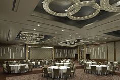 The Sheraton Bangalore Hotel, India. #conference #room #crystal #circle #chandelier #elegant #style #lighting #design #hospitality