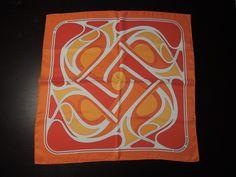 Vintage Hermes Virages Style Carré by Pierre Péron 1976 Orange Silk Scarf Orange, Silk, Vintage, Painting, Ebay, Stone, Painting Art, Paintings, Vintage Comics