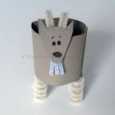 Cardboard Tube Goat: The Farm Series - Crafts by Amanda