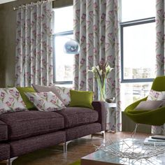 Nothing says luxury quite like a pair of sumptuous curtains at a window. Available in a number of style options, from pinch pleat to pencil pleat, with various additional finishes such as pelmets and tie backs, our range of made to measure curtains offer the ideal bespoke solution to any window. Here in flower pattern