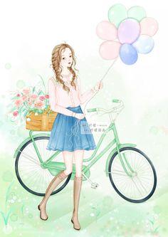Cute Baby Dolls, Cute Babies, Anime Chibi, Anime Art, Cute Cartoon Girl, Girls With Flowers, Chibi Girl, Illustration Girl, Amazing Art