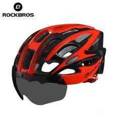 1642c11edc ROCKBROS Bicycle EPS Helmet With Lenses Integrally-molded 28 air vents  Cycling Bike Equipment Helmet Casco Ciclismo Free Size