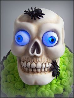 Glow in the Dark Spooky Skull Cake Tutorial  - SugarEd Productions