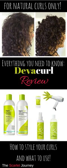 Total review of the Devacurl hair care line, including the shampoo, conditioner, gel, set if free spray, and build-up booster. Plus how to style your natural curls to get the best look! #naturalcurls #devacurl