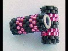 peyote beaded beads with eyelets - simple but brilliant!
