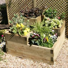 Zest 4 Leisure Raised Timber Square Planter & Reviews | WF