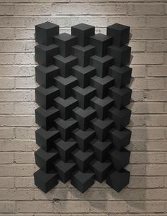 A series of geometric sculptures made entirely out of cardstock paper, which also serves as the primary concentration for my Drawing/Painting studio body of work. Current work towards the bottom. Origami Art Mural, Origami Paper, 3d Design, Tile Design, Geometric Sculpture, Geometric Art, Paper Wall Art, Wood Wall Art, 3d Wall Tiles
