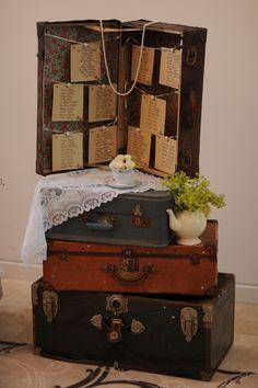 Plan de table pour un mariage vintage et rétro