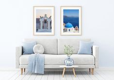 Digital Download - Santorini Photo Set of 2 - Greek Islands - Travel Photography - Fine Art Photography - Wall Art Fine Art Photography, Travel Photography, Wall Decor, Wall Art, Greek Islands, Printing Services, Santorini, Colours, Interior Design