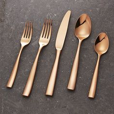 Couture, our most popular flatware pattern, elevates to the next level with a stunning rose gold finish. Well balanced and comfortable in hand, Couture sets a striking table with its clean and sophisticated style.