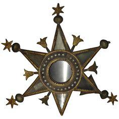 19th Century Spanish Star-Shape Religious Processional Lantern