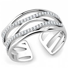 Hope Chest Jewelry - SKU047 - Silver Tone Stainless Steel Water Wave Design Cubic Zirconia Ring, $17.49 (http://www.hopechestjewelry.com/sku047-silver-tone-stainless-steel-water-wave-design-cubic-zirconia-ring/)