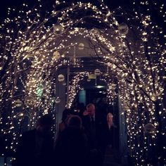 Fairy Lights Wedding Arch - 20 Cool Wedding Arch Ideas, http://hative.com/cool-wedding-arch-ideas/,